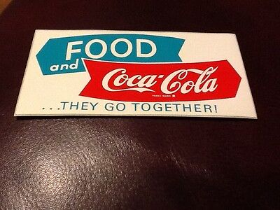 Coca-Cola Decal 1950's Rare Mint.  Manufactor 3M.