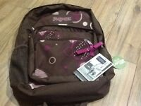 "Jansport Hyperbreak Chocolate Brown 31litre Backpack with 15.4"" laptop sleeve."