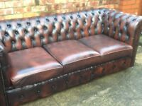 WANTED TO BUY TODAY LEATHER CHESTERFIELD SOFAS AND CHAIRS SINGLE CHAIRS OR FULL SETS ££££££ :):)