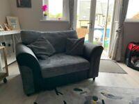 Fabric cuddle chair