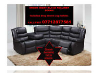 sofa recliner corner black