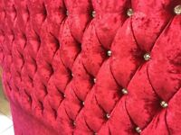 NEW Red velvet diamond headboard ❤️