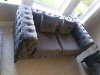Cleveland 3 Seater Sofa, Fabric, Nova Anthracite