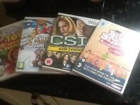 Four new unopened games for Nintendo wii