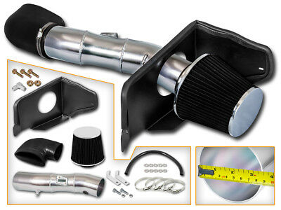BCP BLACK 05-09 Ford Mustang GT 4.6L V8 Cold Air Intake Racing System + Filter