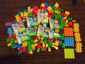 Mega Bloks First Builders like Lego Duplo + Block Buddies (Set of 8 NEW)