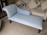 Beautifully Re-upholstered Edwardian Style Chaise Lounge