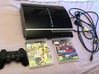 PLAYSTATION 3 + FIFA 17 + PES 17 + LEADS ( SONY) ONLY £100