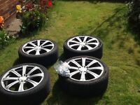 "17""baa alloy wheels with tyres"