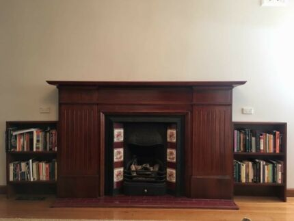 Replica Victorian Fireplace and Mantle