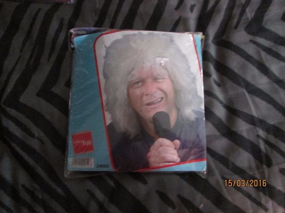 MENS BLONDE FLUFFY/ SHAGGY FANCY DRESS WIG GREAT FOR A PARTY OR STAG DO