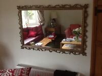 Attractive Mirror with gold colour surround