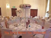 Throne Chairs/Love Lounge/Chair Covers/Backdrop/CentrePieces/LED Dance floor EVENT DECOR Hire!