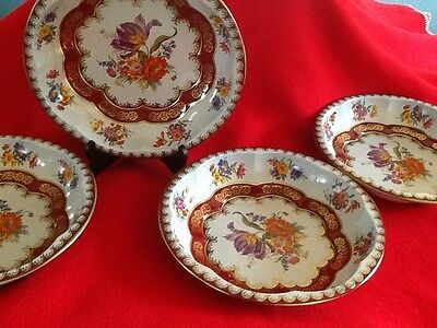Vintage 1971 Daher Decorated Ware Lot of 4 Bowls Made in England 11101