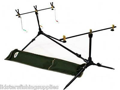 NEW COMPLETE FISHING ROD POD WITH RESTS & INDICATORS