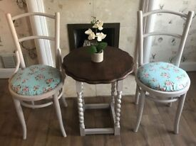 Shabby chic space saver table and chairs