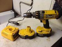 Dewalt 18v battery drill.