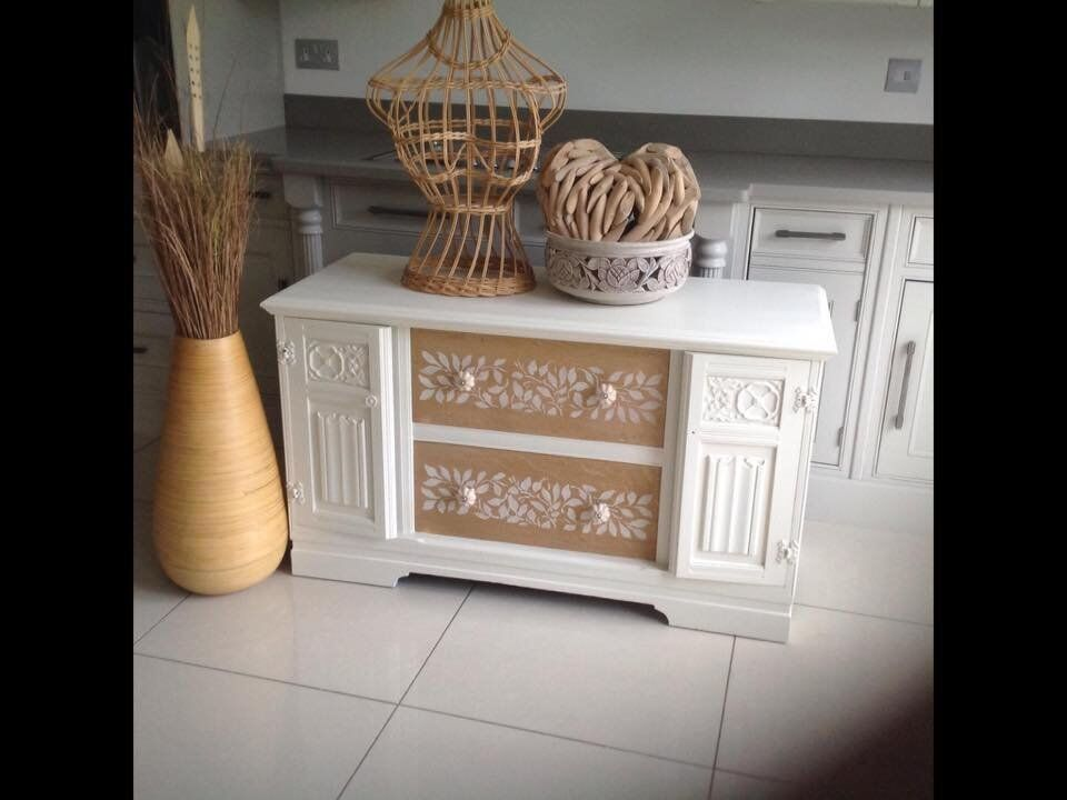 Oak Unitin Methley, West YorkshireGumtree - Oak Unit with natural wooden drawer fronts and stencilling Feel free to message me if you have any questions