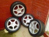 """Rip speed 4 stud multi stud 15"""" alloy wheels"""