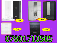 WARDROBE WARDROBES TALLBOY CHESTS BRAND NEW FAST DELIVERY 5177