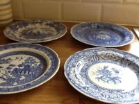 4 Spode wall plates for sale