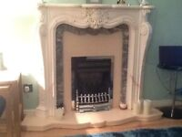 Louis 14th marble fire surround