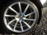 19INCH 5/112 NEW VOSEEN CVT DIRECTIONAL ALLOY WHEELS WITH NEW TYRES FIT AUDI VW SEAT SKODA ETC