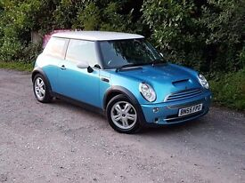 **FOR SALE 2005 MINI COOPER 1.6 PETROL** 12MONTHS M.O.T -With upgraded cooper s bonnet!NOW REDUCED!!