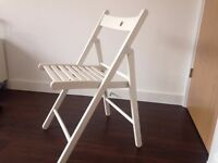 X2 White Wooden Folding Chairs