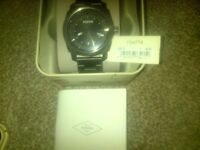 gents fossil watch brand new boxed authentication book price tag cost £85 wanting £60 ono