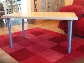 IKEA laminated look top table, height adjustable legs
