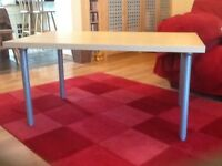 IKEA laminated look top table, height adjustable legs