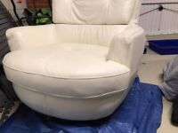 NEW PRICE. Furniture Village ivory chair for sale. Vgc.