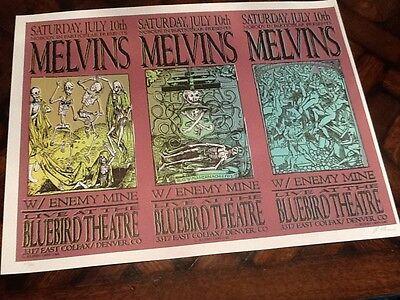 1999 Lindsay Kuhn MELVIN'S uncut sheet SILKSCREEN Concert music POSTER s/n