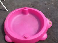 Pink hippo pool sand pit