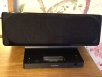 SONY Black docking station with remote control excellent condition