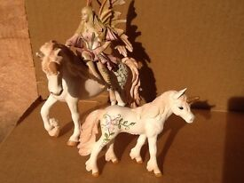 Beautifully crafted Schleich fairy horses and elves figurines (10 pieces) - PERFECT condition