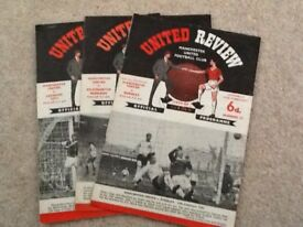 Manchester United 11 Vintage Football Programmes from the 1960,s