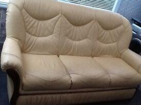 For Sale: 5 Piece Set Leather Sofa