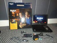 """bush 12"""" portable dvd player"""
