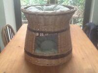 2 tier wicker cat basket