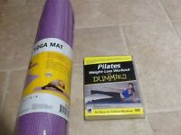 Pilates/yoga mat & dvd