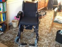 Electric Wheelchair, eight months old, as new. Hardly used