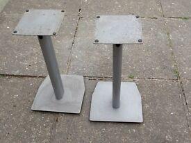 Metal speaker stands,
