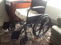 Good condition large self propelled wheel chair. No longer neede.byer collects