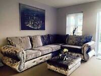New Chesterfield Diamanté British Hand Made To Measure Crushed Valvet Sofas Free Delivery