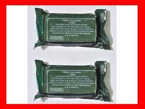 LOT-2-Israeli-Trauma-Bandage-4-Vacuum-Sealed-Military-Emergency-Dressing-IDF