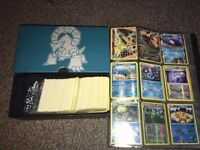 Pokemon XY Cards Bundle with 380 Cards / Energy + Box + Dice + Folder / Job lot