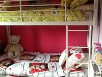 Bolt zero white metal bunk beds 6 months old no mattresses