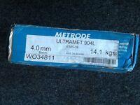 Welding rods Ultramet 904L 4.0mm dia stainless steel